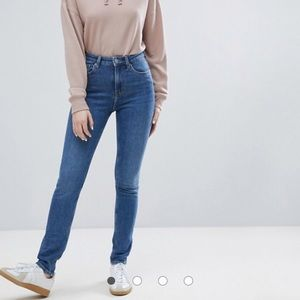 NWT Asos High Waist Skinny Jeans - Arizona Blue